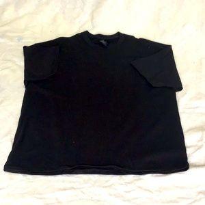V. Hanes beefy black tshirt S 3XL